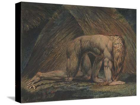 Nebuchadnezzar-William Blake-Stretched Canvas Print