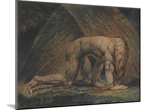Nebuchadnezzar-William Blake-Mounted Giclee Print