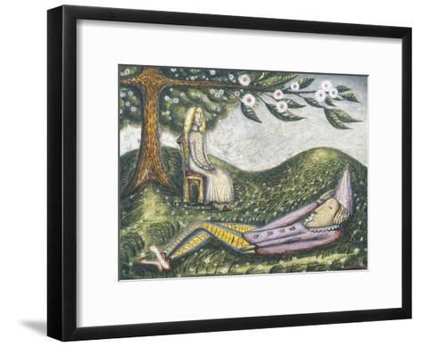 The Sleeping Fool-Cecil Collins-Framed Art Print