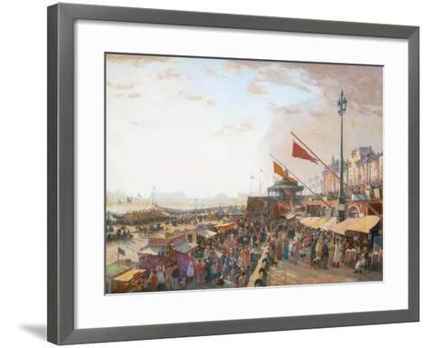 Bank Holiday, Brighton-Charles Cundall-Framed Art Print