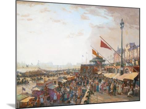 Bank Holiday, Brighton-Charles Cundall-Mounted Giclee Print