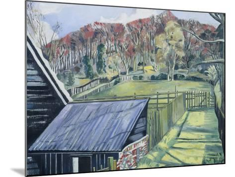 Behind the Inn-Paul Nash-Mounted Giclee Print