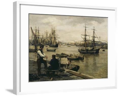 The Pool of London-Matthew White Ridley-Framed Art Print