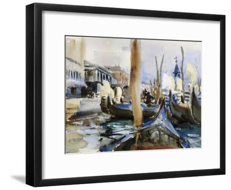 Riva Degli Schiavoni, Venice-John Singer Sargent-Framed Art Print