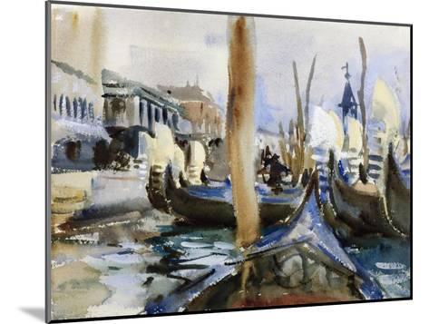 Riva Degli Schiavoni, Venice-John Singer Sargent-Mounted Giclee Print