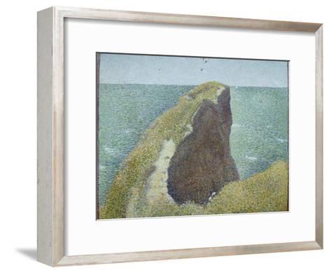 Le Bec Du Hoc, Grandcamp-Georges Seurat-Framed Art Print