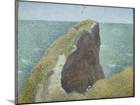 Le Bec Du Hoc, Grandcamp-Georges Seurat-Mounted Giclee Print