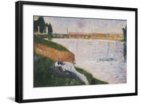 Clothes on the Grass-Georges Seurat-Framed Art Print