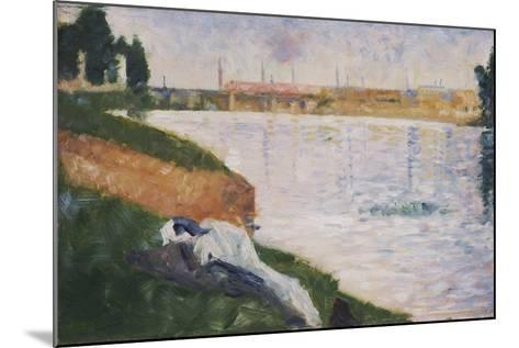 Clothes on the Grass-Georges Seurat-Mounted Giclee Print