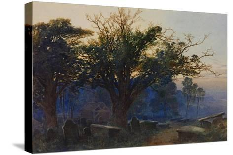 Churchyard at Bettws-Y-Coed-George Sheffield-Stretched Canvas Print