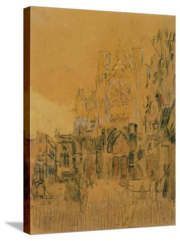 Dieppe, Study No. 2; Facade of St Jacques-Walter Richard Sickert-Stretched Canvas Print