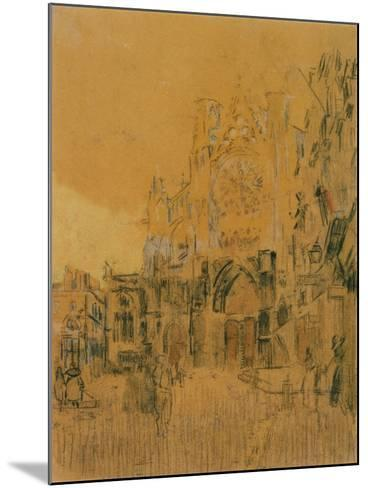 Dieppe, Study No. 2; Facade of St Jacques-Walter Richard Sickert-Mounted Giclee Print