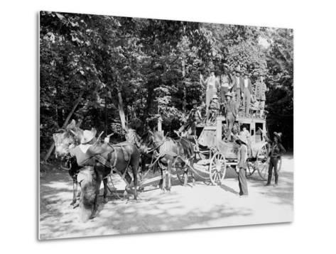 Niagara Falls, June 23D, 1898, Pawnee Bills Wild West Co.--Metal Print