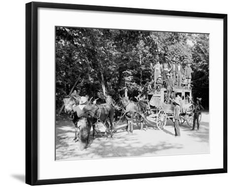 Niagara Falls, June 23D, 1898, Pawnee Bills Wild West Co.--Framed Art Print