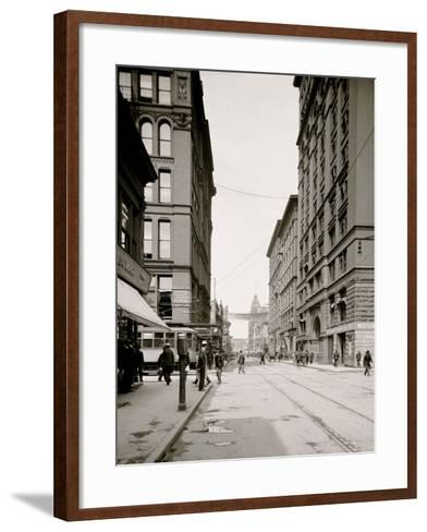 The Locks, Sault Ste. Marie, Mich.--Framed Art Print