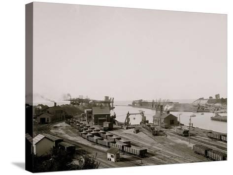 Harbor Entrance, Conneaut, Ohio--Stretched Canvas Print