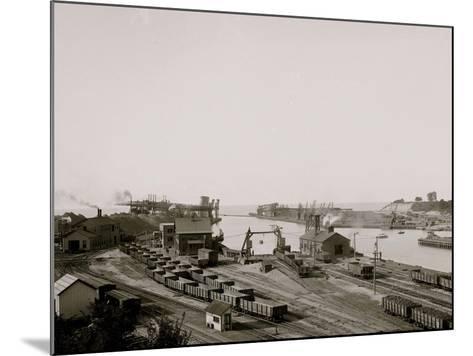 Harbor Entrance, Conneaut, Ohio--Mounted Photo