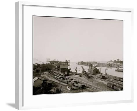Harbor Entrance, Conneaut, Ohio--Framed Art Print