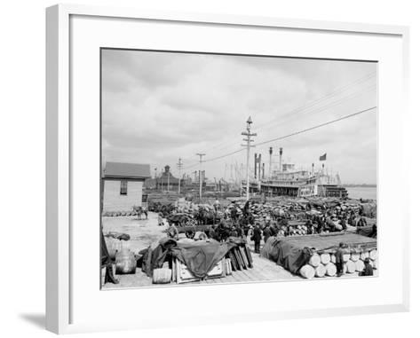 Levee, Foot of Canal St., New Orleans--Framed Art Print