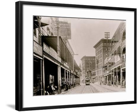 St. Charles St. I.E. Saint Charles Avenue, New Orleans, Louisiana--Framed Art Print