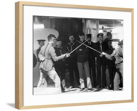 U.S.S. Newark, Sword Exercise--Framed Art Print