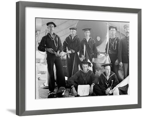 U.S.S. Brooklyn, Signal Party--Framed Art Print