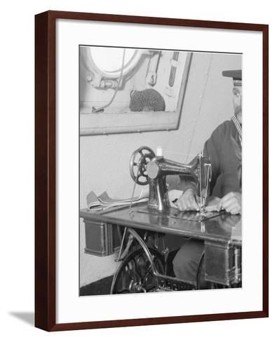 U.S.S. Brooklyn, Ships Tailor--Framed Art Print