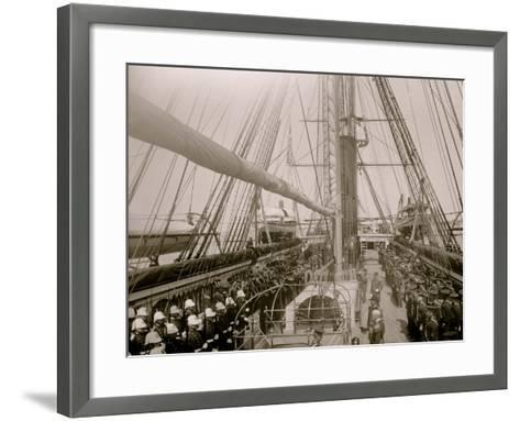 U.S.S. Richmond, Sunday Morning Inspection--Framed Art Print