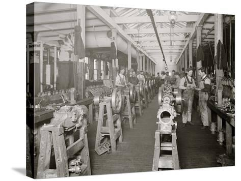 Assembling Room, Leland Faulconer Manufacturing Co., Detroit, Mich.--Stretched Canvas Print