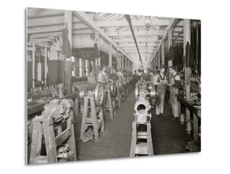 Assembling Room, Leland Faulconer Manufacturing Co., Detroit, Mich.--Metal Print