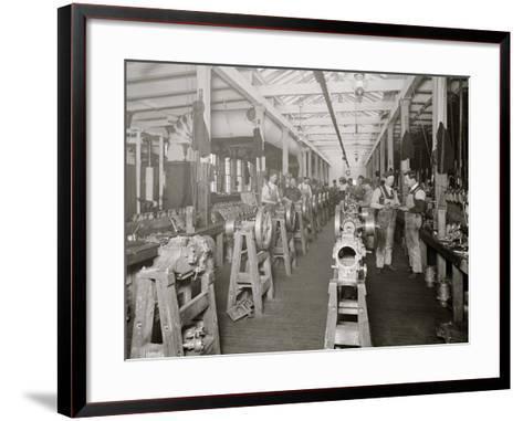 Assembling Room, Leland Faulconer Manufacturing Co., Detroit, Mich.--Framed Art Print