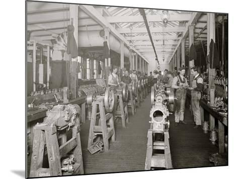 Assembling Room, Leland Faulconer Manufacturing Co., Detroit, Mich.--Mounted Photo