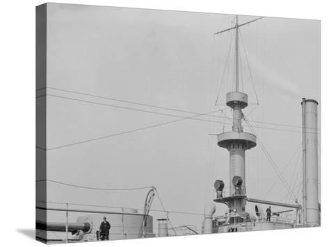 U.S.S. Brooklyn, Marine Guard Company Drill--Stretched Canvas Print