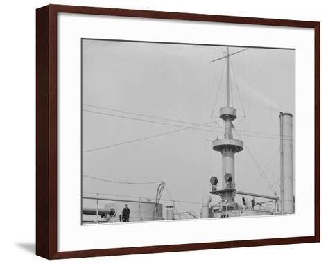 U.S.S. Brooklyn, Marine Guard Company Drill--Framed Art Print