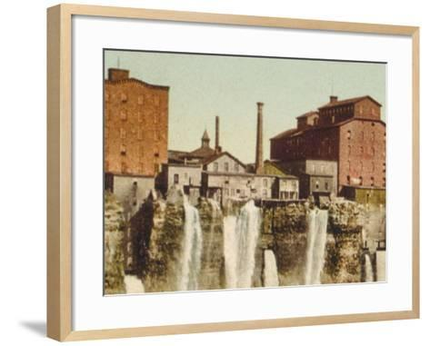 Niagara, Mills on American Shore--Framed Art Print