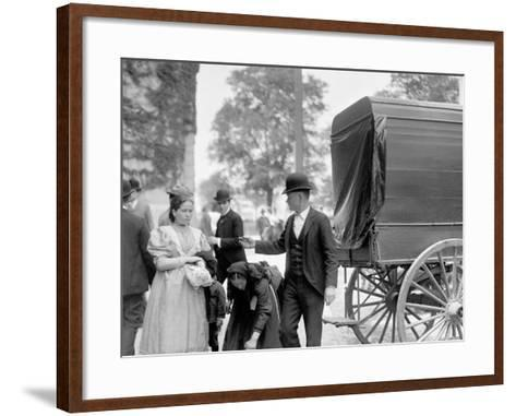 Immigrants at Battery Park, New York, N.Y.--Framed Art Print