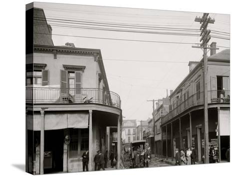 Italian Headquarters, Madison St., New Orleans, La.--Stretched Canvas Print