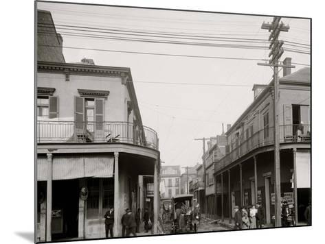 Italian Headquarters, Madison St., New Orleans, La.--Mounted Photo