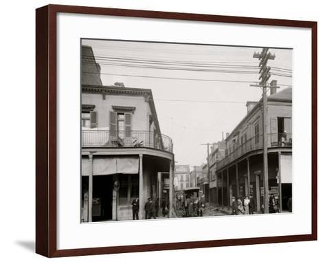 Italian Headquarters, Madison St., New Orleans, La.--Framed Art Print