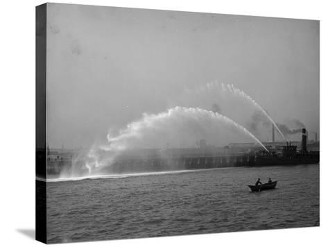 Fireboat 44 in Action--Stretched Canvas Print