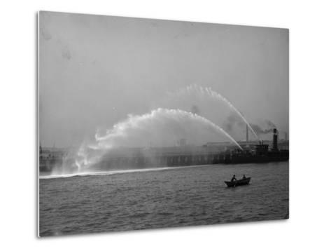 Fireboat 44 in Action--Metal Print