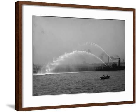 Fireboat 44 in Action--Framed Art Print