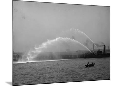 Fireboat 44 in Action--Mounted Photo