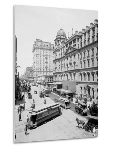 Grand Central Station and Hotel Manhattan, New York--Metal Print