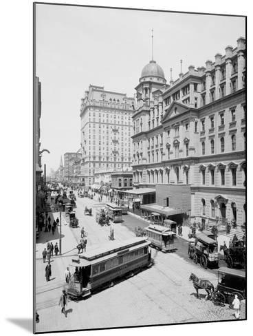 Grand Central Station and Hotel Manhattan, New York--Mounted Photo