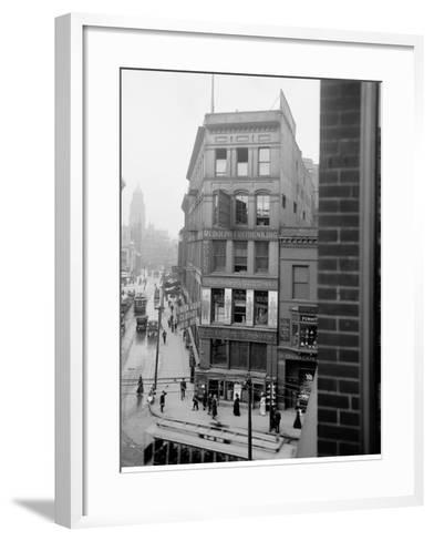 Library Park, Gratiot Avenue Farmer Street, Detroit, Mich.--Framed Art Print