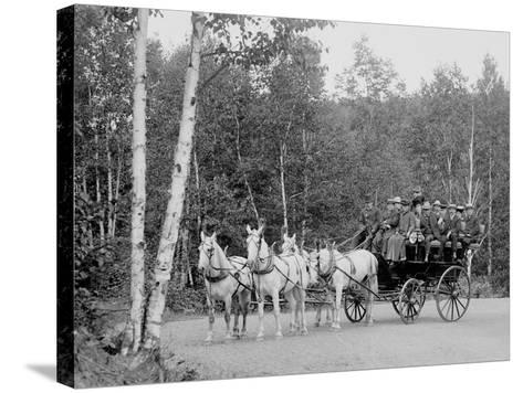 Coach on the Boulevard, Duluth, Minn.--Stretched Canvas Print