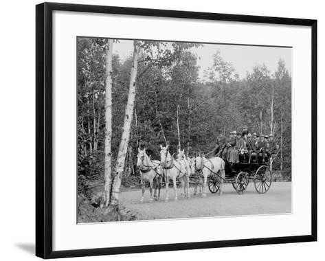 Coach on the Boulevard, Duluth, Minn.--Framed Art Print