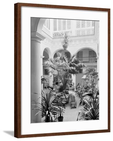 Courtyard, Hotel Florida, Havana, Cuba--Framed Art Print