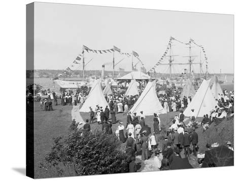 Indian Village, Saint Marys Sic Canal Celebration, Sault Ste. Marie, Mich.--Stretched Canvas Print